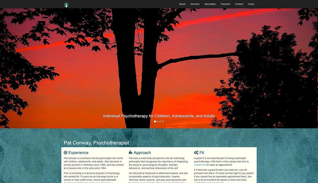 Pat Conway, Psychotherapist