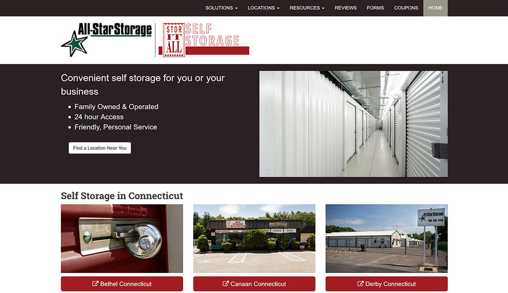 All-Star and Stor-It-All Self Storage, CT