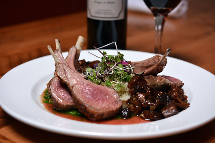 Chef Chris Harmon's Herb Rubbed Roast Rack of Lamb